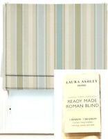 LAURA ASHLEY HOUSE AWNING STRIPE DUCK EGG READY MADE ROMAN BLIND 0.8M-W 1.5M-L