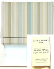 2X LAURA ASHLEY AWNING STRIPE DUCK EGG READY MADE ROMAN BLIND 1.2M-W 1.5M-L