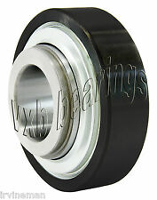 FHSBR201-12mm Rubber Interliner Set Screw Locking 12mm Ball Bearings Rolling