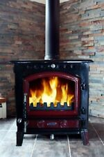Heritage Blackrock 10kw Wood Log Burner Stove Room Heater Enamel Colour UK Stock