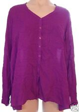 NEW Jeans By Buffalo Purple S, small button front long sleeve blouse shirt top