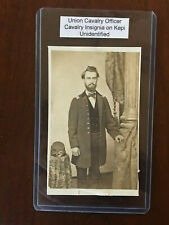Civil War Photography Union Cavalry Officer Insignia on Kepi