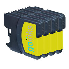 4 Yellow Ink Cartridges for Brother DCP-J140W, DCP-J515W, MFC-J410