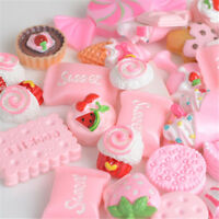 10Pcs Pink Blessing bag Squishy Charms Squeeze Hard Plastic Toy Collection Gifts
