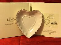 "Lenox Porcelain 5"" HEARTS CANDY DISH Embossed Valentines Day Decor Love Gift NEW"