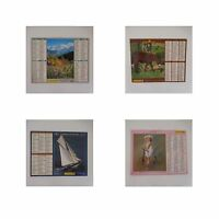 4 Kalender Almanach des Briefträger die Post Frankreich 2005