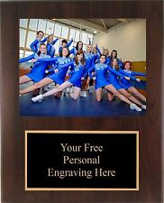 9x12 Personalized Cheerleading Coach / Sponser Team Photo Plaque- Free Engraving