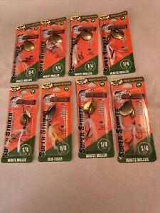 Lot 8 Joe's Flies Super Striker Spinner Bait 1/4 Oz Lures White Miller B-4117