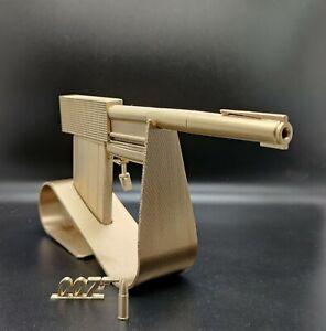 Golden gun/James Bond /007/Props/ Cosplay 3D Printed plastic & painted in gold