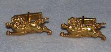 Japanese Samurai Sword Katana ShiShi Menuki 24K Gold Plated Edo Repro Cuff Links