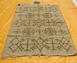 Genuine Handmade Afghan Nomadic Tribal Jute Large Kilim Rug 150x240cm Dhurrie