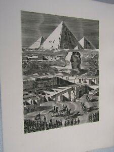 Albert Decaris / Composition gravée sur cuivre / 40 siècles vous contemplent