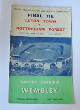 1959 FA Cup Final. Luton Town v Nottingham Forest at Wembley.