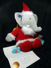 Applause Father Christmas Babar Elephant Toy Sack Plush Ltd Edition COA - NEW!