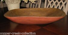 HUGE RED DOUGH BOWL~Table Centerpiece~Primitive/French Country Decor*Wood Style