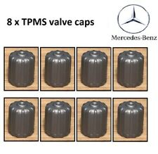Mercedes tyre pressure sensor valve silver grey plastic TPMS tyre valve dust cap