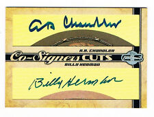 2006 Topps Co-Signers Cut Signatures A.B Chandler & Billy Herman AUTOs Autograph