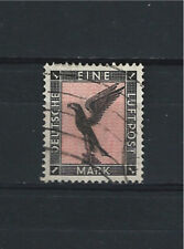 Germany 1926-27, Air Mail 1 Mark. Black And Salmon, Sc C32, Yv 32, Used