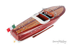 RIVA ARISTON 50cm Handcrafted Wooden Model Speed Boat Ship Gift Decoration