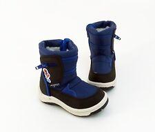 Boots Magnus Stiefel Reißverschluss Kunstleder Textil blau schwarz Gr. 22