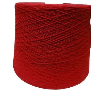 FILATO CASHMERE YARN 100%CASHMERE MADE IN ITALY NM 2/10 RED MAGENTA1000grammi