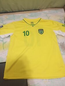 Brazil Nation Team Futbol Soccer Gol Youth Yellow Jersey Size Youth Large