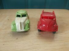 2 Vintage Plastic Toy Vehicles, A Thomas Toy Flat Bed Car, and Green/White Truck