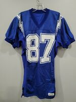 Rare Vintage 80s 90s NFL San Diego Chargers 87 Pro Cut Football Jersey Mens 40 M