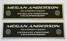 Megan Anderson UFC nameplate for signed mma gloves photo or case