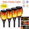 4x Outdoor 12LED Solar Torch Dance Flickering Flame Light Garden Waterproof Lamp