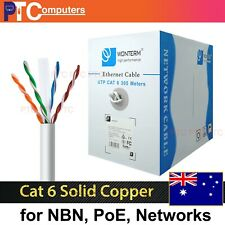 Cat6 305m UTP Ethernet networking Cable Solid copper POE CCTV IP Camera 20x RJ45