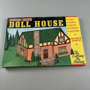 1960's Built-Rite Doll House No. 36 In Box. No Cutting Or Pasting To Build
