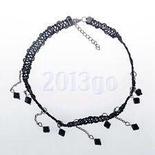Pendant Crystal Chain Jewelry Necklace Yg Women Black Collar Choker Bib Bead