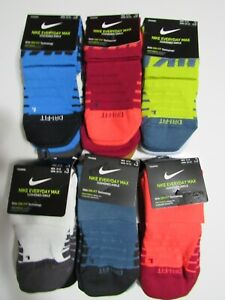 Nike Dri Fit Mens Ankle 3 Pack Socks 8-12 Nwt