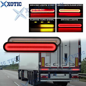 RV Semi Truck Trailer 100 LED Strobe Brake Flowing Turn Signal Rear Tail Light