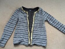 Girls black white and gold sequin george cardigan 9-10 years