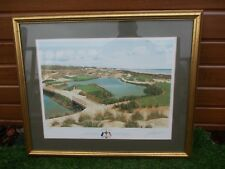 GRAEME W BAXTER SIGNED LIMITED EDITION RYDER CUP 1991 KIAWAH ISLAND PRINT FRAMED