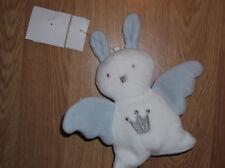 doudou Peluche Berlingot Lapin Rabbit Bunny Lièvre mouchoir blanc bleu roi ange