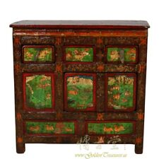 Antique Tibetan Colorful Painted Chest