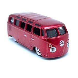 Maisto G Ridez Volkswagen VW Samba Van Bus Red Diecast 1/64 Scale Loose