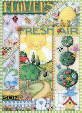 FLOWERS FRESH AIR SECRET GARDENS-Handcrafted Spring Magnet-W/Mary Engelbreit art