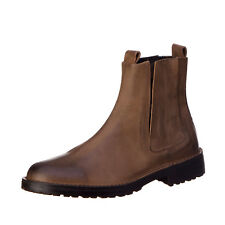 RRP€250 DIESEL Size 43 UK 9 D-PITT CHELSEA Burnished 100% Leather Chelsea Boots