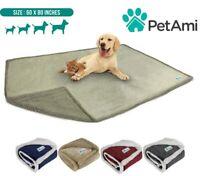 Dog Blanket for Large XL Dogs Pet Soft Microfiber Fleece Warm Sherpa Reversible