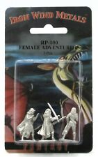 Ral Partha RP-100 Female Adventurers (Set of 3) Warrior Wizard Ranger Heroes NIB