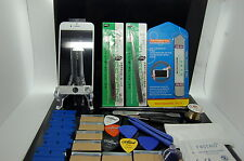 NEW TECHNOLOGY IPHONE 5 WHITE GLASS,FRAME,OCA GLUE PRE-INSTALLED REPAIR KIT