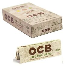 Full Box 24x Packs ( OCB Organic Hemp 1.25 1 1/4 ) Rolling Paper Papers RYO