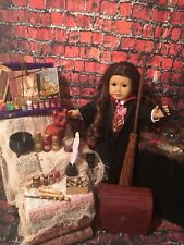 CUSTOM AMERICAN GIRL DOLL FOR FANS OF HARRY POTTER HERMIONE OOAK&Handmade Props