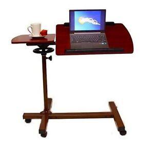 Sharper Image Best Over Bed Table, Adjustable Tilt laptop with Wheels