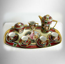 Pirkenhammer tea set with under tray - hand painted victorian - FREE SHIP