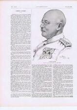 coupure de presse clipping  Guerre 1914 1918 L'Amiral Gauchet